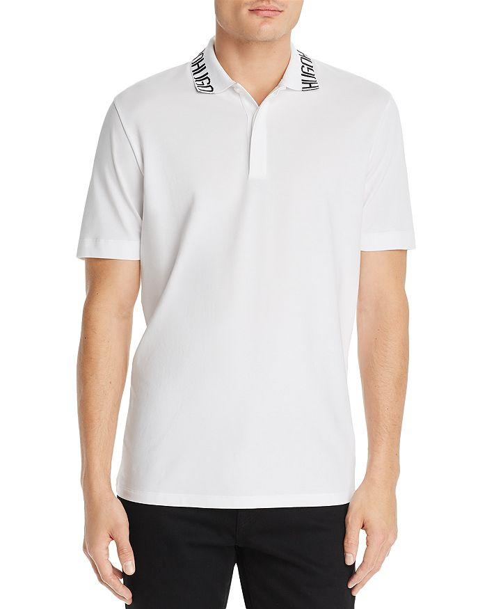 HUGO - Dewayne Logo-Patterned Collar Polo Shirt