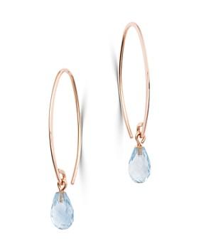 Bloomingdale's - Aquamarine Briolette Threader Earrings in 14K Rose Gold - 100% Exclusive