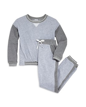 Splendid - Girls' Contrast French Terry Sweatshirt & Jogger Pants - Big Kid