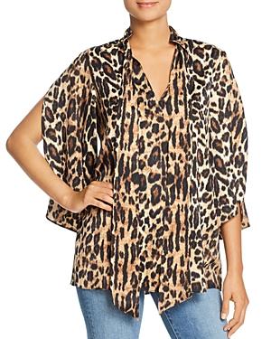 Kenneth Cole Leopard Print Scarf Tunic