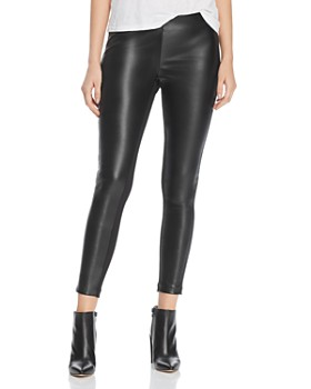 Donna Karan - Faux-Leather Front Pants