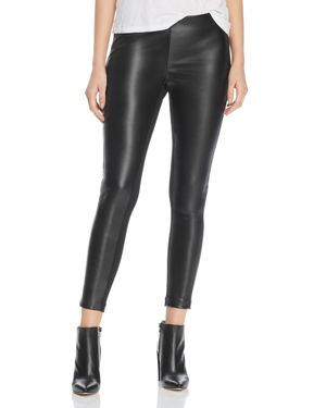 Donna Karan New York Faux-Leather Front Pants
