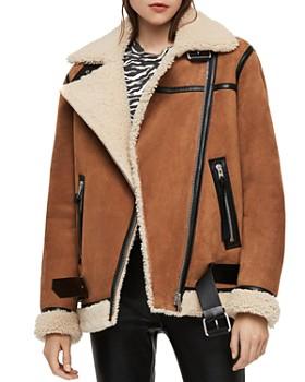 ALLSAINTS - Rei Shearling Moto Jacket