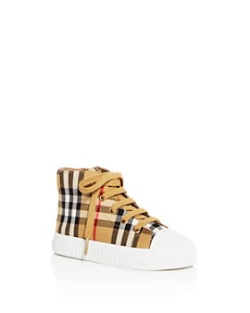 Burberry - Unisex Belford Vintage Check High-Top Sneakers - Toddler, Little Kid