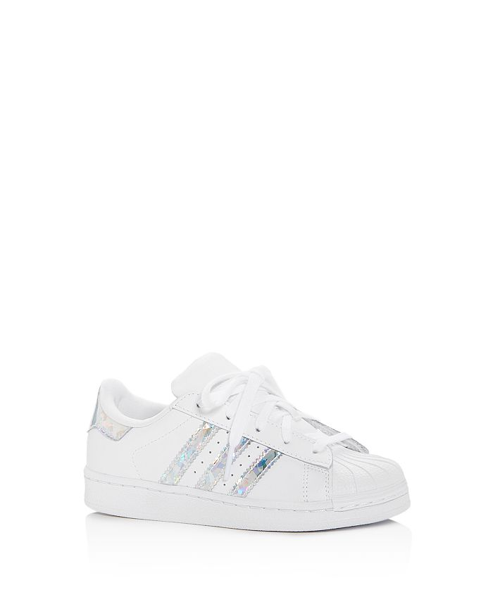 Adidas - Unisex Superstar Leather Low-Top Sneakers - Toddler, Little Kid