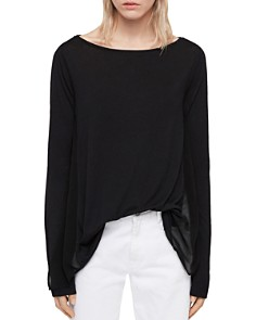 ALLSAINTS - Musson Sheer-Inset Tee