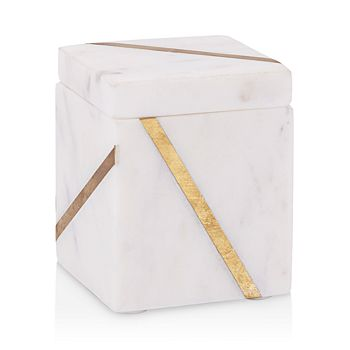 Kassatex - Marble Brass Cotton Jar