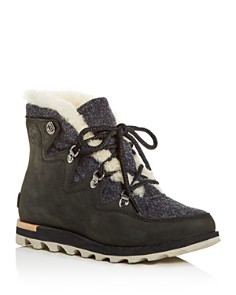 Sorel - Women's Sneakchic Alpine Holiday Shearling Waterproof Cold-Weather Boots