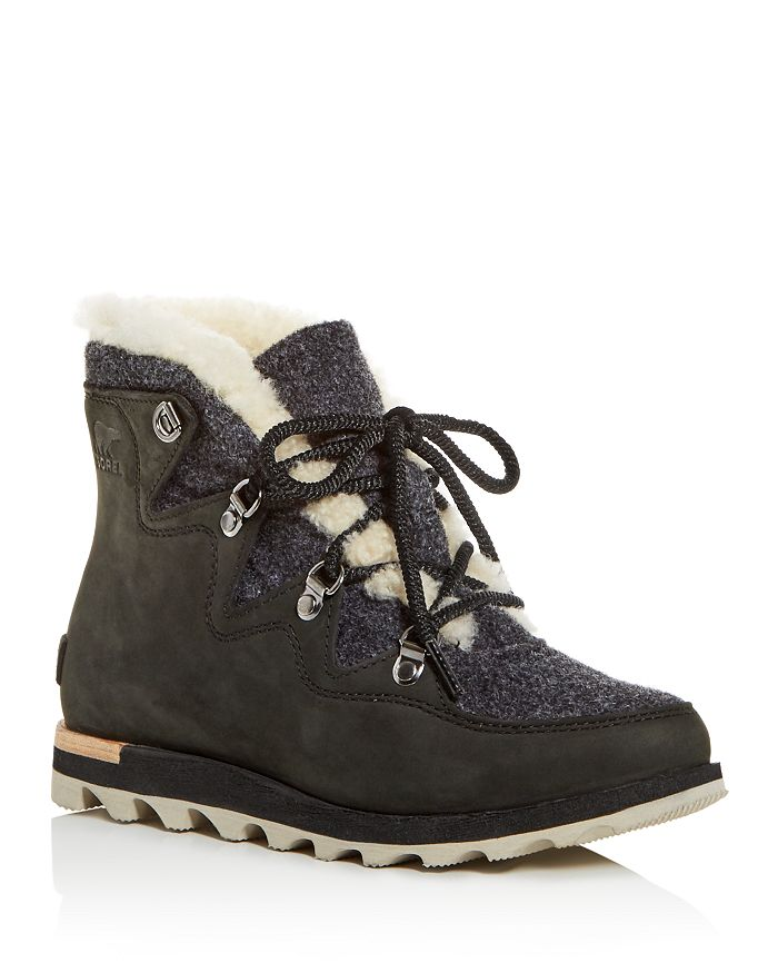 0bf8ef35548 Sorel - Women's Sneakchic Alpine Holiday Shearling Waterproof Cold-Weather  Boots