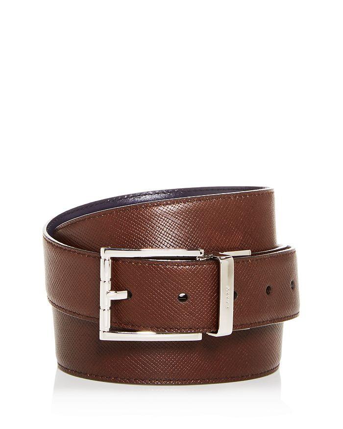 Bally - Men's Astor Embossed Leather Reversible Belt