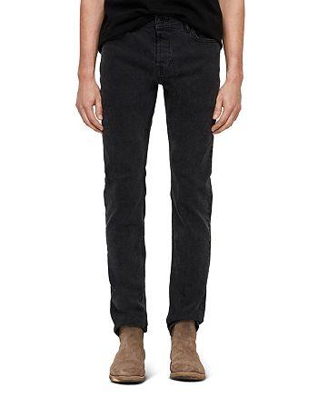 ALLSAINTS - Rex Straight Skinny Jeans in Smoke Black
