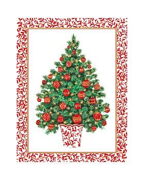 Caspari - Decorated Tree Holiday Cards, ...