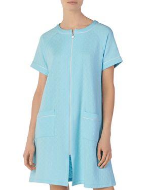Eileen West Short Matelasse Zip Robe