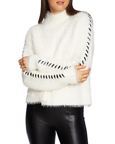 1.STATE - Whipstitch Eyelash Knit Sweater