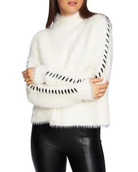 1.STATE - Whipstitch Eyelash Knit Sweater