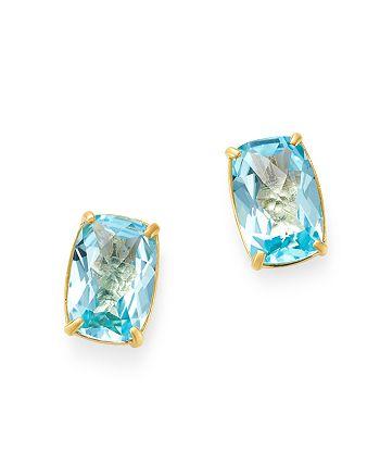 Bloomingdale's - Sky Blue Topaz Stud Earrings in 14K Yellow Gold - 100% Exclusive