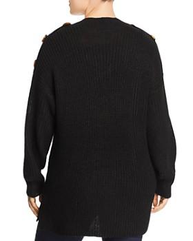 Alison Andrews Plus - Button-Trim Tunic Sweater