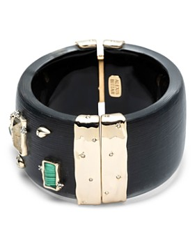 Alexis Bittar - Studded Wide Retro Hinge Bracelet