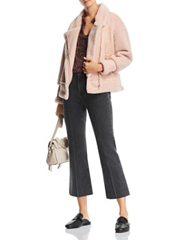 Apparis - Anne Faux-Shearling Moto-Style Jacket