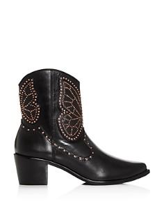 Sophia Webster - Women's Shelby Studded Western Mid-Heel Boots