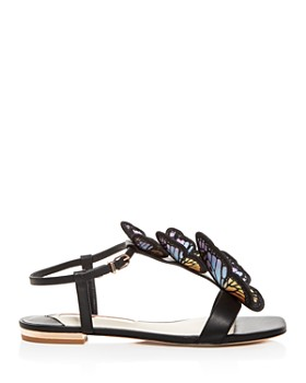 Sophia Webster - Women's Riva Embroidered Butterfly T-Strap Sandals
