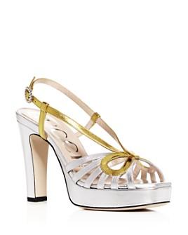 Gucci - Women's Zephyra Slingback High-Heel Platform Sandals