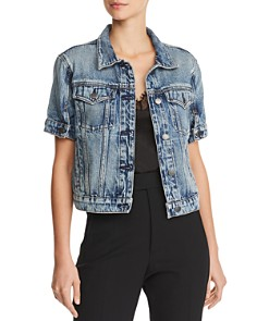 Hudson - Ruby Short-Sleeve Denim Jacket in Hideaway