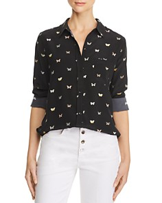 Rails - Kate Butterfly Print Silk Shirt