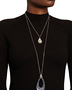 "Alexis Bittar - Link Pendant Necklace, 32"""