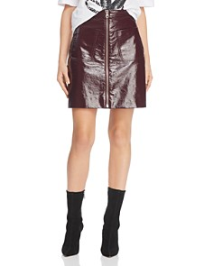 McQ Alexander McQueen - Coated Mini Skirt