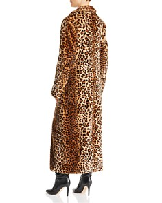 Rebecca Minkoff - Turner Leopard-Print Faux-Fur Duster Coat
