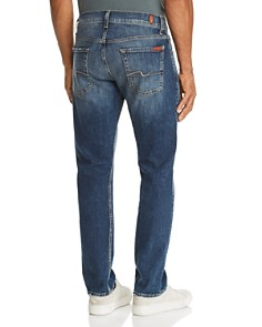 7 For All Mankind - Straight Slim Fit Jeans in Democracy