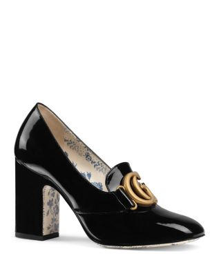 Women's Leather Pumps With Double G by Gucci