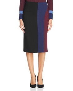 BOSS - Velivia Color Block Pencil Skirt