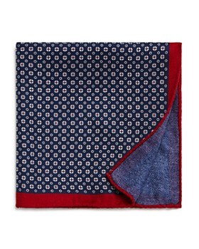The Men's Store at Bloomingdale's - Mini-Medallion/Solid Reversible Pocket Square - 100% Exclusive