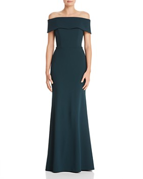 028a70522e3 AQUA - Off-the-Shoulder Scuba Crepe Gown - 100% Exclusive ...