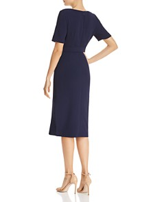 Adrianna Papell - Textured Faux-Wrap Dress