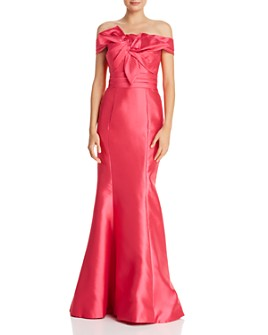 Basix - Off-the-Shoulder Silk Gown