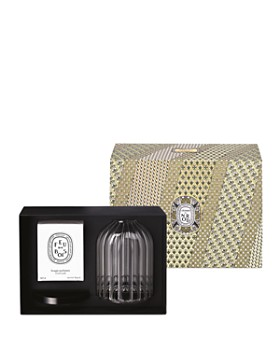 Diptyque - Feu de Bois Scented Candle & Holder Gift Set