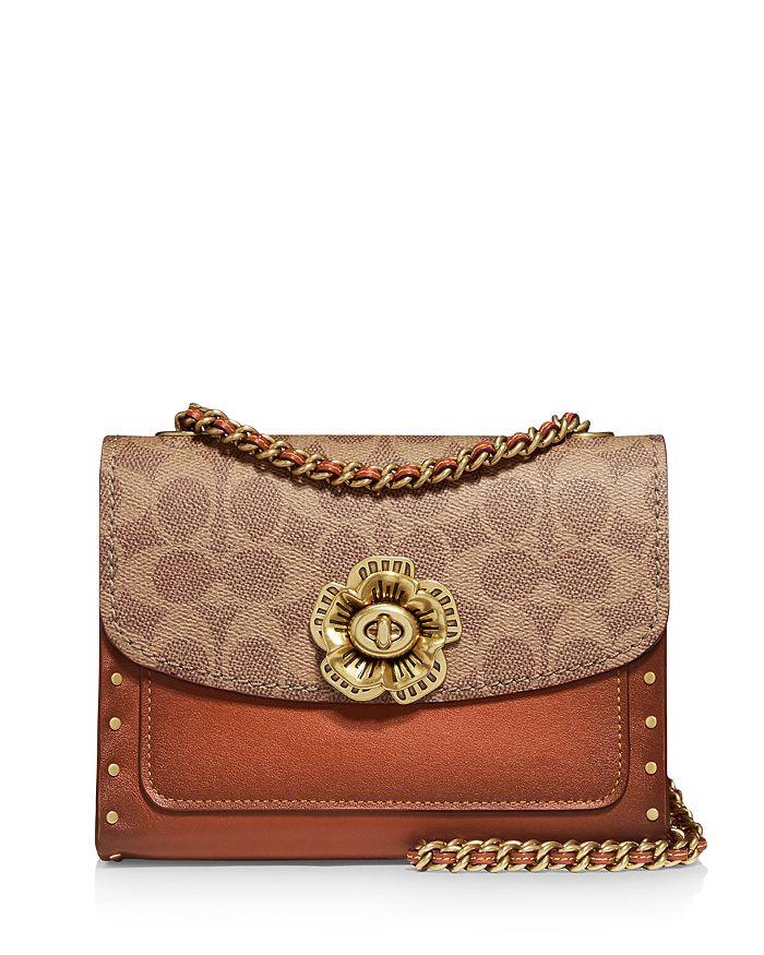 COACH - Parker 18 Canvas & Leather Convertible Shoulder Bag