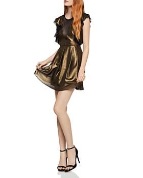Bcbgeneration Mesh Inset Metallic Dress