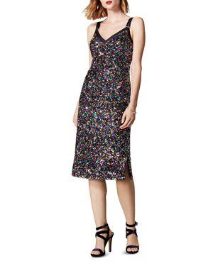 KAREN MILLEN Sequined Sheath Dress in Multicolor
