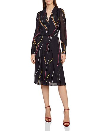 REISS - Caralisa Printed Shirt Dress