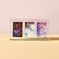 "Argento SC - Iridescent Three Photo Frame, 2"" x 3"""
