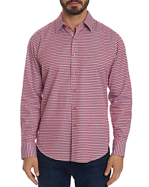 Robert Graham T-shirts CAREY CHECKED CLASSIC FIT BUTTON-DOWN SHIRT