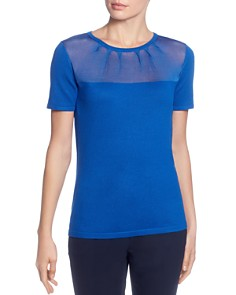 T Tahari - Sheer Yoke Top