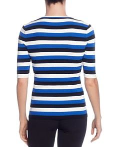 T Tahari - Striped Ribbed Top