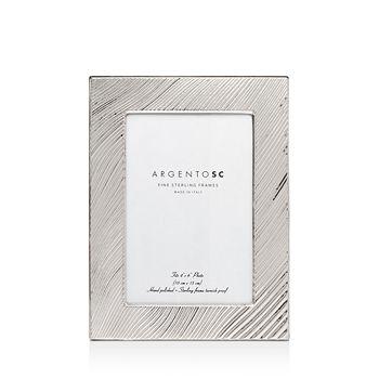 "Argento SC - Adelaide Wave-Pattern Sterling Silver Frame, 4"" x 6"""