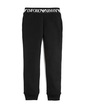 Armani Junior - Girls' Fleece Logo Tape Jogger Pants - Little Kid, Big Kid