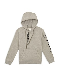 True Religion - Boys' Heathered Logo Hoodie - Little Kid, Big Kid
